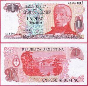ARGENTINA 1 PESO 1983-1984 P311a BANKNOTE UNC