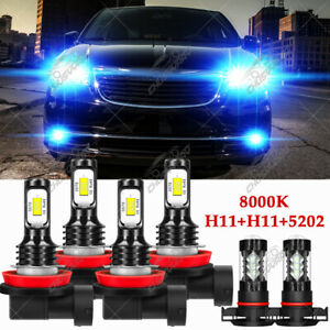 6pcs LED Bulb For Chrysler Town & Country 2010-2016 Headlight High Low Fog Light