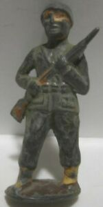 Old 1935 Rare Lead Barclay Italian Military Soldier