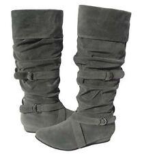 New Womens Fashion BOOTS Winter Snow Gray Fashion  shoes Ladies 10