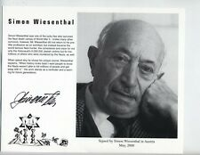 "SIMON WIESENTHAL d.2005 ""The NAZI Hunter"" WWII Holocaust Survivor autograph"