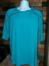 Reebok Mens Athletic Workout Top T Shirt Short Sleeve Size Xl Blue