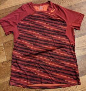 Asic Motion Dry Running Shirt Mens Large Orange