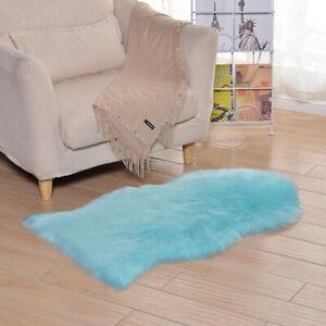 Large Faux Fur Rug Sheepskin Rug for Living Room Area Rugs Carpet for Bedroom
