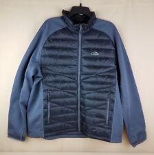 LL Bean Ultralight 850 Down Fuse Jacket Pockets Zip Black Grey Men's Reg XXL NWT