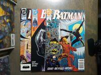 BATMAN 3 book lot #455,456,457 VF-NM D.C comics