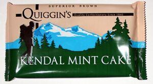 Kendal Mint Cake  2 x 170g Bars Quiggins  Brown  Kendal Mintcake