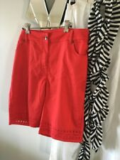 VIRTUELLE TS TAKING SHAPE Orange Red Stretch Shorts Front Back Pockets 16 PC