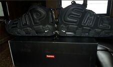Supreme x Nike Air More Uptempo Black US Men's 10.5  Suptempo CONFIRMED