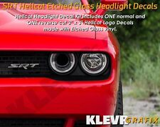 Dodge Hellcat Logo Headlight Decals Vinyl Sticker Charger Challenger SRT Demon