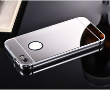 Luxury Mirror Back Cover Skin Metal Aluminum Frame Case For Apple iPhone iPod
