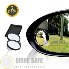 "Blind Spot Mirrors 2"" HD Round Glass 2-Pack Rear View Mirror 
