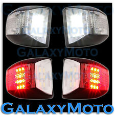01-13 Chevy Silverado White LED License Plate+Red LED Rear Facing Running Lights