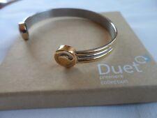 Bioflow Duet 2 tone gold/silver finish magnetic wrist bangle