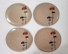 "New listing Set of 4 Independent Studiesâ""¢ Melamine Tan/Brown Oval Trees Plates Modern Design"