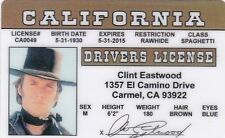 Clint Eastwood actor - The Good The Bad The Ugly   ID Drivers License