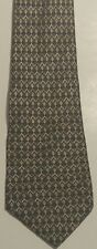 Van Heusen Black Silver Gold Abstract Diamonds Tie Silk Long Wide Necktie