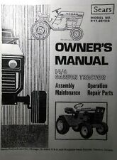 Sears Suburban 14/6 Garden Tractor & Engine Owner, Parts & Service (2 Manuals)