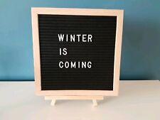 Black Felt Wooden Letter Board DIY Signs Personalise Weddings / home