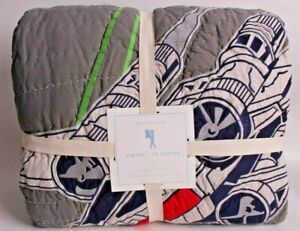 NWT Pottery Barn Kids Star Wars X-Wing & Tie Fighter FQ quilt full queen f/q