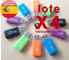 Lote x4 Adaptador tarjeta micro SD a USB  lector de tarjetas microSD a USB