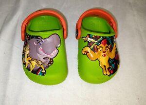 Boys Green Disney Lion Guard Crocs Size 4C