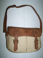 "BORSA POSTINO""TIMBERLAND""LINEN LEATHER BAG MADE IN ITALY 100% ORIGINAL BAG"