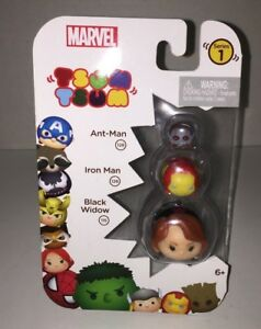 Marvel Tsum Tsum  Series 1 Ant Man Iron Man & Black Widow New Jakks Pacific 2016