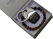 Addiction Recovery Gift Set Beaded Bead Serenity Prayer Keyring Bracelet Unisex