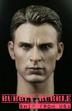 1/6 Captain America Civil War Chris Evan Head Sculpt For Hot Toys SHIP FROM USA