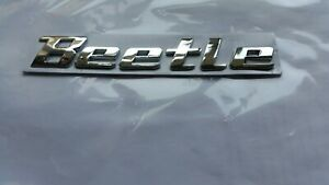 VW BEETLE CHROME BOOT BADGE LETTERS