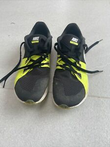 Nike Rival XC Cross Country Running Spikes Size UK 9.5 Black / Yellow