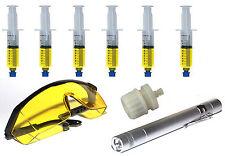 UV-Lampe Brille 6x Kartuschen Kontrastmittel mitAdapter KFZ-Klima R12 R134 R1234
