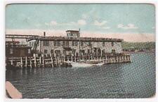Fish Market Tilson Wharf Rockland Maine 1910c postcard