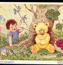 FAIRY TICKLES SLEEPY TEDDY BEAR,BUG;BAUMGARTEN POSTCARD