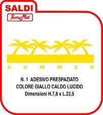 SUMMER ADESIVO PALMA TUNING AUTO STABILIMENTI BALNEARI BAR CAMPER