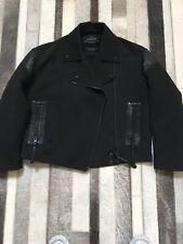 All Saints Black Biker Matton Jacket