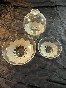 Rosenthal Lotus Glasschalen Bonbonschalen Gebäckschalen neuwertig