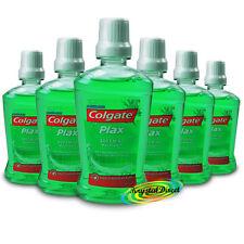 6x Colgate Plax Multi Protection Alcohol Free Mouthwash 60ml Travel Size