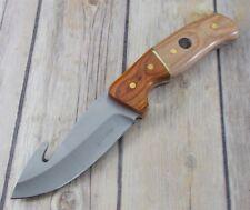 Couteau à Dépecer Elk Ridge Acier 3Cr13 Manche Bois Etui Simili Cuir ER20019GN