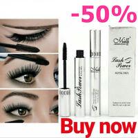 4D Silk Fiber Eyelashes Mascara Extension Makeup Black Waterproof Kit Eye Lashe!
