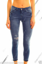 Regular Ripped, Frayed Mid Capri, Cropped Jeans for Women