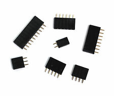50pc Pin Female Header Pitch=2.54mm H=8.5mm Straight type 1x2p 1x2 2p RoHS