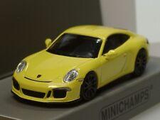 Minichamps Porsche 911 R, 2016, gelb, schwarze Felgen - 870 066224 - 1:87