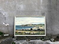 Large 1970s Welsh Original Oil Painting on Board - Signed