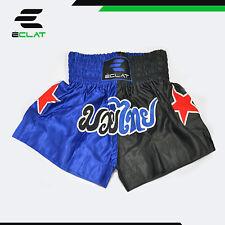 Éclat Muay Thai Kick Boxing Mma Shorts Blue Black