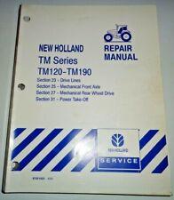 New Holland TM120 TM130/140/155 TM175 TM190 Tractor FWD PTO AXLES Repair Manual