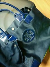$198 - Tory Burch Ella Nylon navy Black Tote Bag Authentic