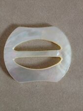 Vintage Genuine Natural Mother of Pearl Shell Belt Buckle Sewing Notion 5cm