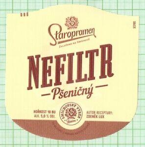 CZECH Staropramen Brewery Nefiltr Psenicny new 2021 beer label B000 017